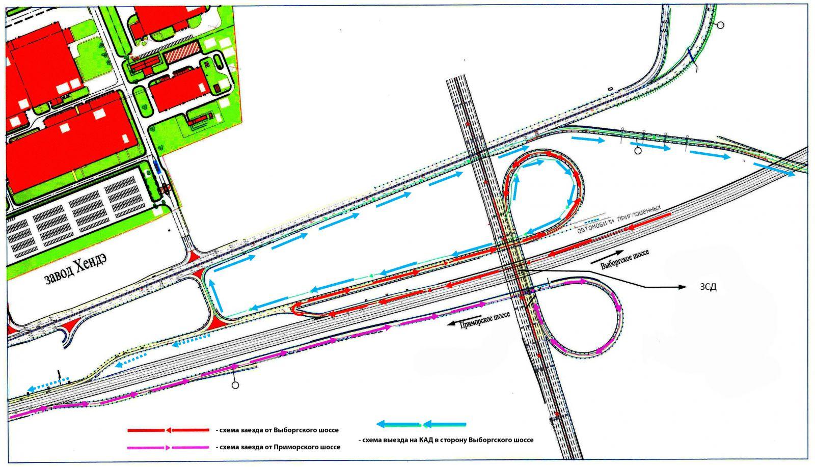 Схема развязок кад выборгское шоссе